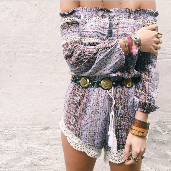 LF Dresses & Skirts - LF stores stripped long sleeve romper